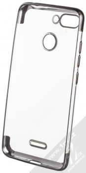 Sligo Plating Soft TPU pokovený ochranný kryt pro Xiaomi Redmi 6 černá (black) zepředu