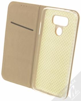 Sligo Smart Magnet flipové pouzdro pro LG G6 zlatá (gold) otevřené