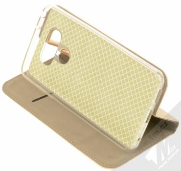 Sligo Smart Magnet flipové pouzdro pro LG G6 zlatá (gold) stojánek