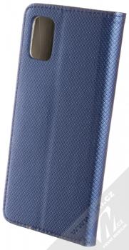 Sligo Smart Magnet flipové pouzdro pro Samsung Galaxy A51 tmavě modrá (dark blue) zezadu