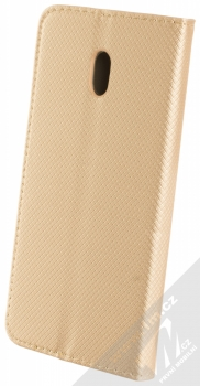 Sligo Smart Magnet flipové pouzdro pro Xiaomi Redmi 8A zlatá (gold) zezadu