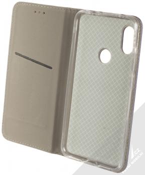 Sligo Smart Magnet flipové pouzdro pro Xiaomi Redmi Note 6 Pro tmavě modrá (dark blue) otevřené