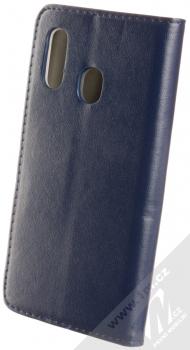 Sligo Smart Magnetic flipové pouzdro pro Samsung Galaxy A40 tmavě modrá (dark blue) zezadu