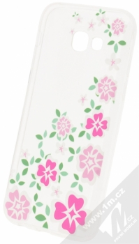 Sligo Trendy Flower TPU ochranný kryt s motivem pro Samsung Galaxy A5 (2017) průhledná (transparent)