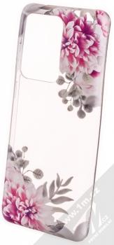 Sligo Trendy Záhonek růžových jiřin TPU ochranný kryt pro Samsung Galaxy S20 Ultra průhledná (transparent)