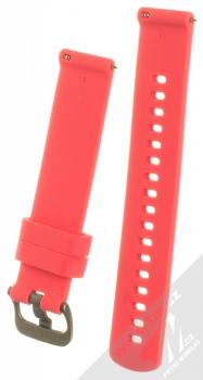 Tactical Diamond Color Strap silikonový pásek na zápěstí s univerzální osičkou 18mm červená (red) zezadu