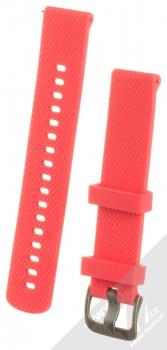 Tactical Diamond Color Strap silikonový pásek na zápěstí s univerzální osičkou 18mm červená (red)