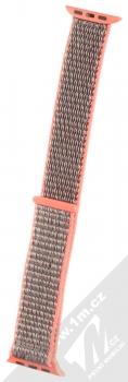 Tactical Nylon Strap textilní pásek na zápěstí pro Apple Watch 38mm, Watch 40mm růžová šedá (pink grey)