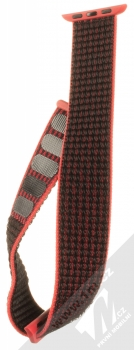 Tactical Nylon Strap textilní pásek na zápěstí pro Apple Watch 38mm, Watch 40mm růžová černá (pink black) rozepnuté