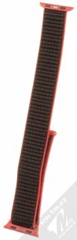 Tactical Nylon Strap textilní pásek na zápěstí pro Apple Watch 38mm, Watch 40mm růžová černá (pink black) zezadu