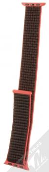 Tactical Nylon Strap textilní pásek na zápěstí pro Apple Watch 38mm, Watch 40mm růžová černá (pink black)