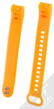 Tactical Vertical Lines Strap silikonový pásek na zápěstí pro Honor Band 3 oranžová (orange) zezadu