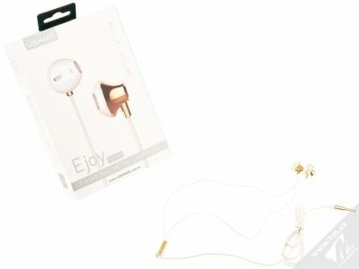 USAMS Ejoy sluchátka s mikrofonem a ovladačem zlatá (gold) balení