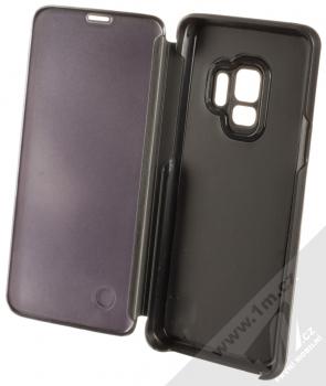 Vennus Clear View flipové pouzdro pro Samsung Galaxy S9 černá (black) otevřené