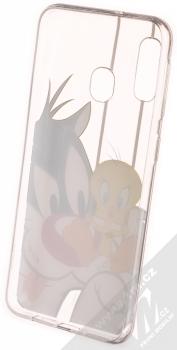 Warner Bros Looney Tunes Sylvestr a Tweety 002 TPU ochranný kryt pro Samsung Galaxy A20e průhledná (transparent) zepředu