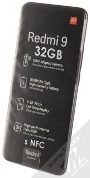Xiaomi Redmi 9 3GB/32GB s NFC šedá (carbon grey) šikmo zepředu