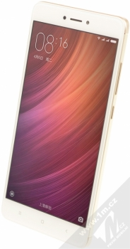 XIAOMI REDMI NOTE 4 4GB/64GB Global Version CZ LTE zlatá (gold) šikmo zepředu