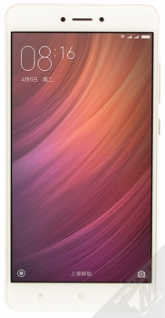 XIAOMI REDMI NOTE 4 4GB/64GB Global Version CZ LTE zlatá (gold) zepředu