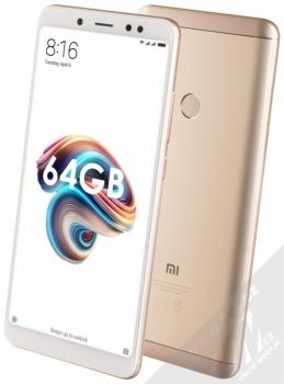 Xiaomi Redmi Note 5 4GB/64GB Global Version CZ LTE + MINI SELFIE TYČKA SETTY v ceně 349KČ ZDARMA zlatá (gold)