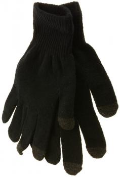 Natec Touchscreen Gloves Black pletené rukavice pro kapacitní dotykový  displej černá (black) 93e79c9427