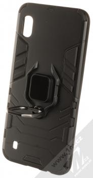 1Mcz Armor Ring odolný ochranný kryt s držákem na prst pro Samsung Galaxy A10 černá (black) otevřené