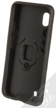 1Mcz Armor Ring odolný ochranný kryt s držákem na prst pro Samsung Galaxy A10 černá (black) zepředu