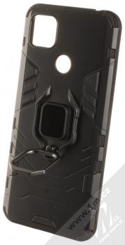 1Mcz Armor Ring odolný ochranný kryt s držákem na prst pro Xiaomi Redmi 9C černá (black) otevřené