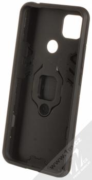1Mcz Armor Ring odolný ochranný kryt s držákem na prst pro Xiaomi Redmi 9C černá (black) zepředu