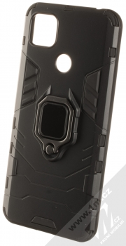 1Mcz Armor Ring odolný ochranný kryt s držákem na prst pro Xiaomi Redmi 9C černá (black)