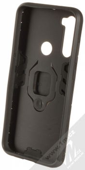 1Mcz Armor Ring odolný ochranný kryt s držákem na prst pro Xiaomi Redmi Note 8T černá (black) zepředu