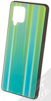 1Mcz Aurora Glass Cover ochranný kryt pro Samsung Galaxy A42 5G měnivě zelená mátově zelená (iridescent