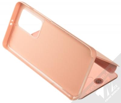 1Mcz Clear View flipové pouzdro pro Huawei P40 Pro růžová (pink) stojánek