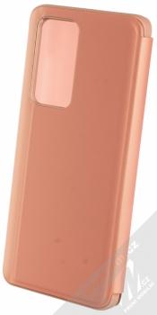 1Mcz Clear View flipové pouzdro pro Huawei P40 Pro růžová (pink) zezadu