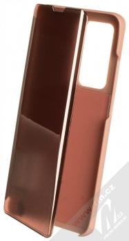 1Mcz Clear View flipové pouzdro pro Huawei P40 Pro růžová (pink)