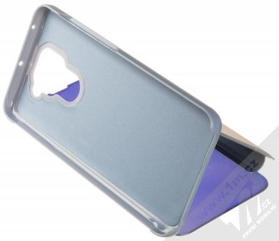 1Mcz Clear View flipové pouzdro pro Xiaomi Redmi Note 9 modrá (blue) stojánek