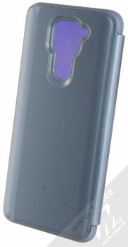 1Mcz Clear View flipové pouzdro pro Xiaomi Redmi Note 9 modrá (blue) zezadu