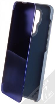 1Mcz Clear View flipové pouzdro pro Xiaomi Redmi Note 9 modrá (blue)