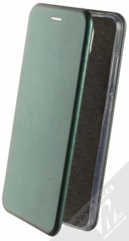 1Mcz Elegance Book flipové pouzdro pro Xiaomi Redmi Note 9 tmavě zelená (dark green)