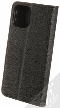 1Mcz Fancy Book flipové pouzdro pro Apple iPhone 12 Pro černá (black) zezadu