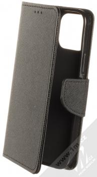 1Mcz Fancy Book flipové pouzdro pro Apple iPhone 12, iPhone 12 Pro černá (black)
