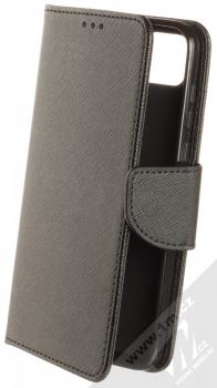1Mcz Fancy Book flipové pouzdro pro Huawei Y5p, Honor 9S černá (black)