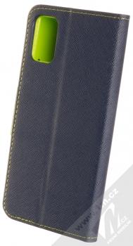 1Mcz Fancy Book flipové pouzdro pro Samsung Galaxy A41 modrá limetkově zelená (blue lime) zezadu