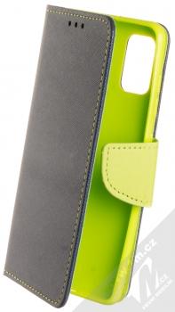 1Mcz Fancy Book flipové pouzdro pro Samsung Galaxy A41 modrá limetkově zelená (blue lime)