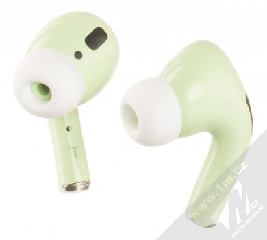 1Mcz i20 AirPro TWS Bluetooth stereo sluchátka světle zelená (light green)