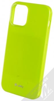 1Mcz Jelly TPU ochranný kryt pro Apple iPhone 12, iPhone 12 Pro limetkově zelená (lime green)