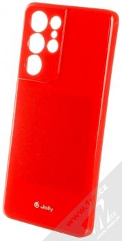 1Mcz Jelly TPU ochranný kryt pro Samsung Galaxy S21 Ultra červená (red)