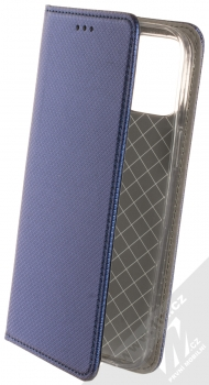 1Mcz Magnet Book flipové pouzdro pro Apple iPhone 12 Pro Max tmavě modrá (dark blue)
