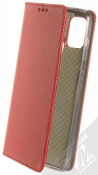 1Mcz Magnet Book flipové pouzdro pro Samsung Galaxy A21s červená (red)