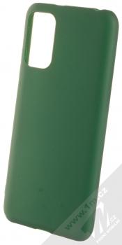 1Mcz Matt TPU ochranný silikonový kryt pro Xiaomi Redmi Note 10 5G, Poco M3 Pro tmavě zelená (forest green)