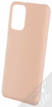 1Mcz Matt TPU ochranný silikonový kryt pro Xiaomi Redmi Note 10, Redmi Note 10S světle růžová (powder pink)